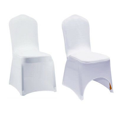 10/20/50/100 White Spandex Stretch Folding Chair Covers Wedding Party Banquet