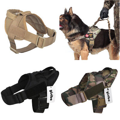 Tactical Military Training Service Dog Nylon Vest Police Patrol Harness w Handle ()