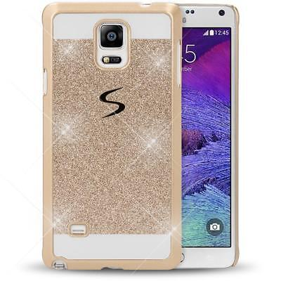 NALIA Glitzer Handy Hülle für Samsung Galaxy Note 4, Bling Hard Case Etui Cover Bling Hard Case Cover