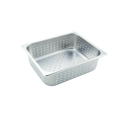 Winco Sphp4 4-inch Deep Half-size Stainless Steel Perforated Steam Table Pan