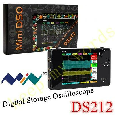 Ds212 Smart Lcd Digital Oscilloscope Usb Interface 1mhz 10msas Coupling Acdc