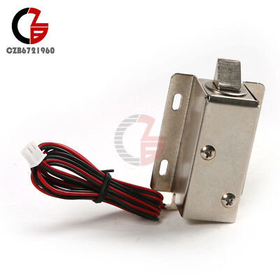 Electric Solenoid Lock Dc 12v Tongue Upward Assembly For Door Cabinet Drawer
