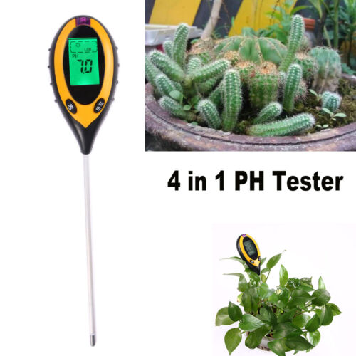 """8"""" Probe PH Tester Soil Water Moisture Light Test Meter F Ga"""