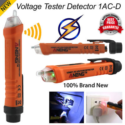 Voltage Tester 12-1000v Detector Pen Ac Non-contact Electric Volt Alert Sensor