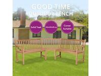 Garden Corner Bench 202x202x90 cm Solid Teak-44991