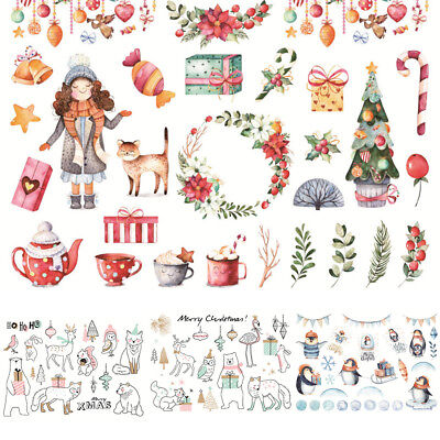 Hands Self Adhesive (Christmas Self Adhesive Sticker Snowflake Album Notebook Decor Craft Hand Painte )
