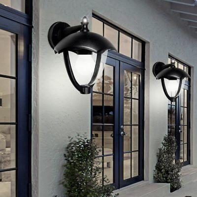 2er Set Außen Wand Leuchten Terrassen ALU Laternen Glas Lampen Einfahrt Garage