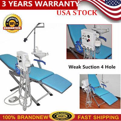 Dental Portable Folding Chair Led Turbine Unit 4 Hole Weak Suction Water Supply