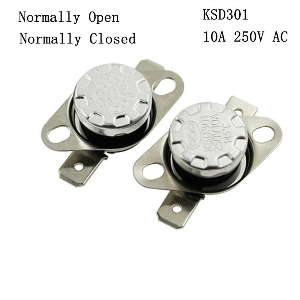 2Pcs 10A 250V KSD301 Thermostat Temperature Thermal Control Switch C0 HV