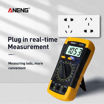 A830l Digital Multimeter Voltmeter Ammeter Tester Multitester Meter Electric Lcd