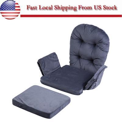 For Baby Nursery Rocker Rocking Chair Glider & Ottoman Stool Seat Soft Cushion ()
