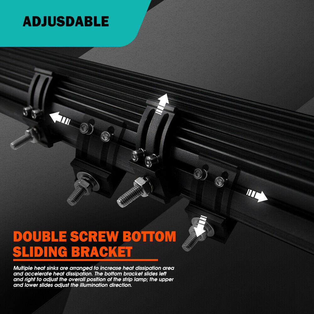 """16D 12/"""" 15/"""" 20/"""" 29/"""" 44/"""" 4-Row 4x4 LED Work Light Bar Combo Offroad Light Bar"""