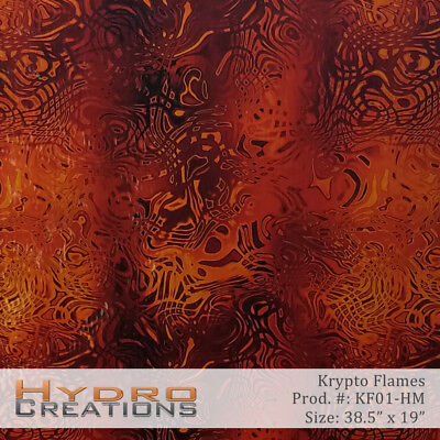 Hydrographic Film Hydro Dipping Water Transfer Film Krypto Flames - 38.5 X 19