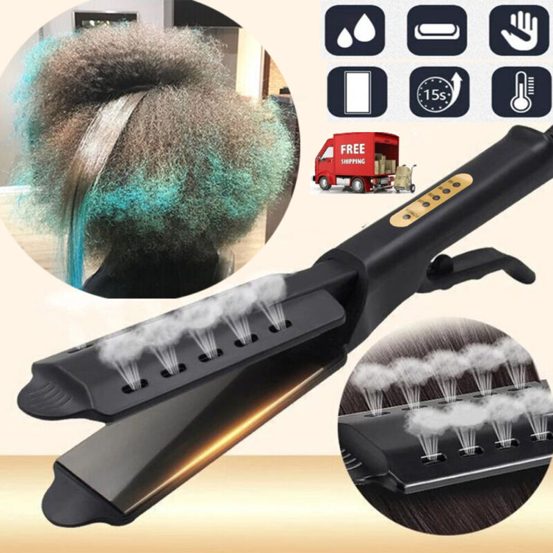 Fourgear Ceramic Tourmaline Ionic Flat Iron New Hair Straightener Glider Yun
