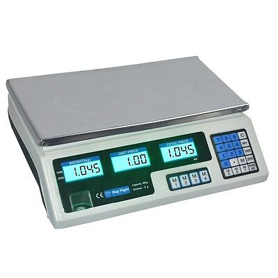 40kg Digital Scale Electronic Price Adapter upto Computing Weight Shop Market UK
