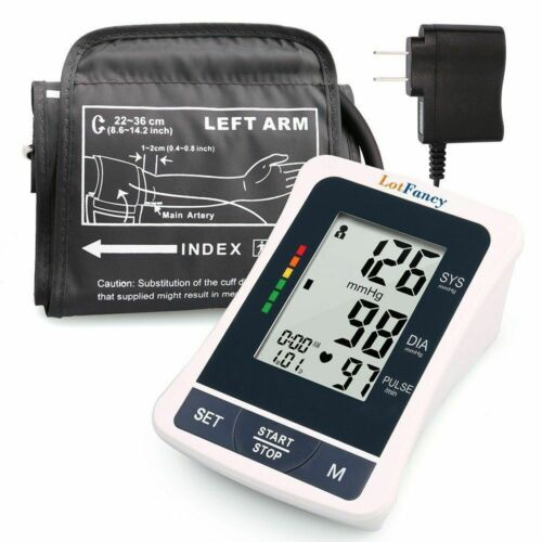 Automatic High Arm Blood Pressure Monitor BP Machine Tester Meter Kit Cuff Gauge