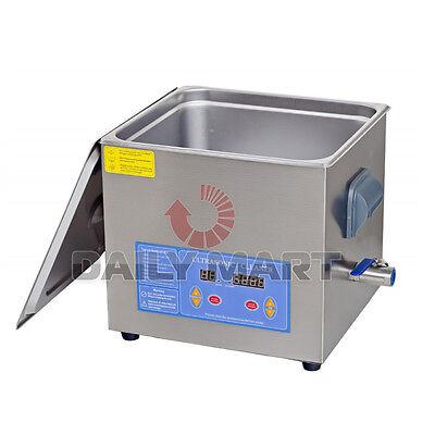 Professional 13liter Digital Ultrasonic Cleaner Timer Heater W Cleaning Basket