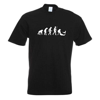 Meerjungfrau Evolution T-Shirt Motiv bedruckt Funshirt Design Print
