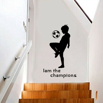 - Kid Play Football Soccer Quote Wall Sticker Boys Room Sport Decor Vinyl Decal US