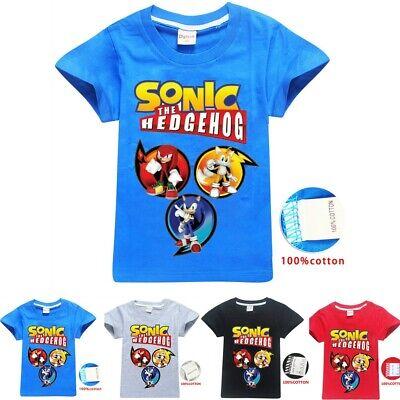 Sonic The Hedgehog Children T Shirt Kids Boys Girls Cotton Top Tee Birthday Gift - Hedgehog Kids