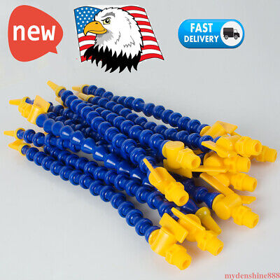 12pc Flexible Plastic Water Oil Coolant Pipe Hose 14 Lathe Machine Switch 30mm