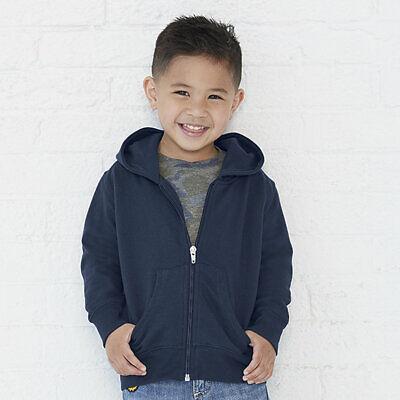 NEW Rabbit Skins Toddler Hooded Full-Zip Sweatshirt Hoodie Style 3346 2T 4T 5/6 -