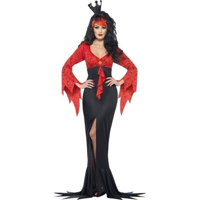Smi - Halloween Damen Kostüm böse Königin Vamprin Teufelin Hexe ()