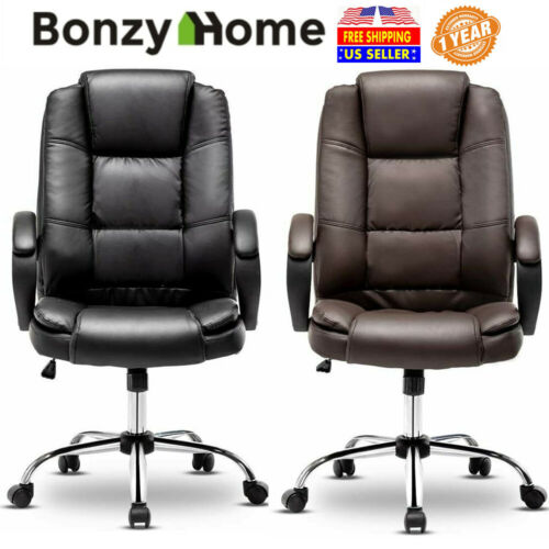 PU Leather High Back Office Chair Executive Task Ergonomic Computer Gaming Chair