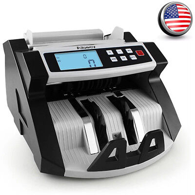 Aibecy Digital Currency Counter Cash Money Value Counterfeit Detector Lcd Uv Mg