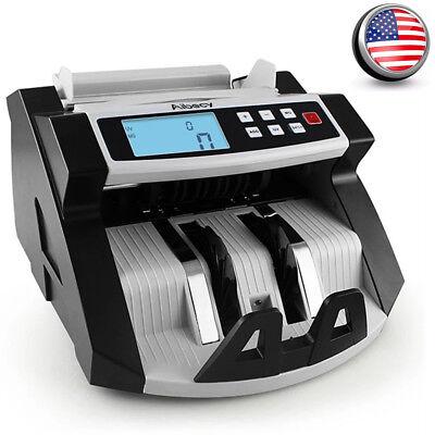 Bill Counter Digital Cash Money Value Counterfeit Detector LCD Display UV N5I9