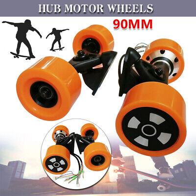 90mm Dual Hub Motors Drive Wheel Kits Electric Skateboard Longboard For 6364 24V