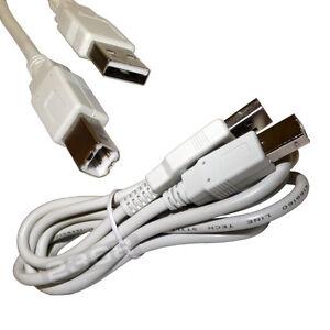 White 6ft Usb Printer Cable For Hp Deskjet 1000 Printer Series
