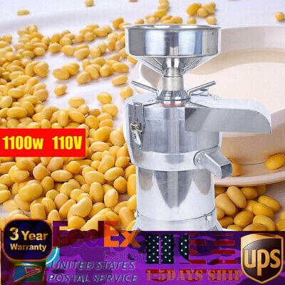 40KG/H Soybean Grinding Machine Soymilk Beater Maker Pulping Milk Machine 1100W