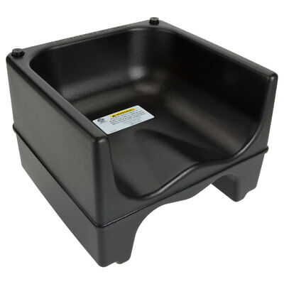 Black Dual Height Plastic Nsf Stackable Restaurant Booster Seat