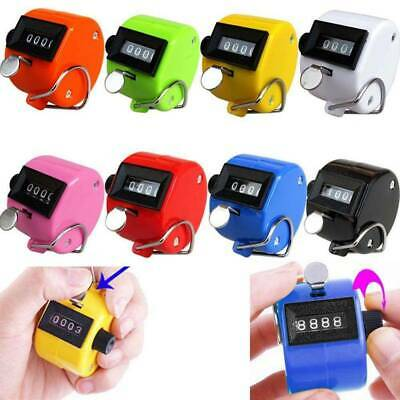 4 Digit Number Manual Handheld Mechanical Clicker Tally Golf Stroke Hand Counter