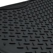 MotorTrend Deep Dish Rubber Floor Mats & Cargo Set - Black - Heavy Duty 4 Piece