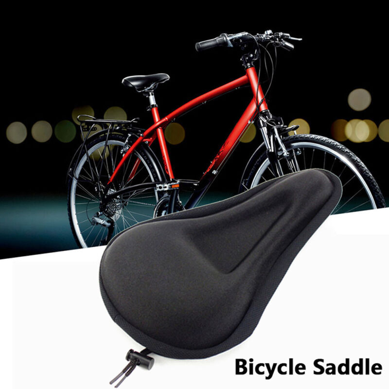 Comfy Bicycle Saddle Cover Cushion Anti-abrasion Padded Bike Seat Cover Soft Gel