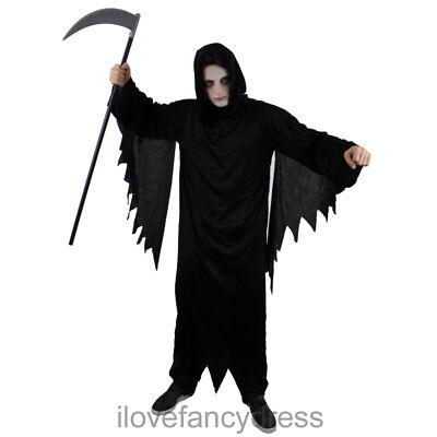 ADULT SCREAMER ROBE MENS DEATH GRIM REAPER COSTUME HOODED HALLOWEEN FANCY - Screamers Kostüm