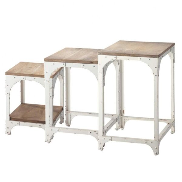 White nest of tables (maison du monde) for sale  Isle of Dogs, Canary Wharf