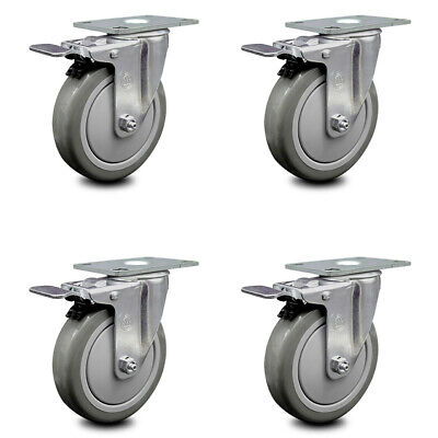 Cambro Dish Caddies Utility Truck Swivel Caster With Brake Replace Set - Scc