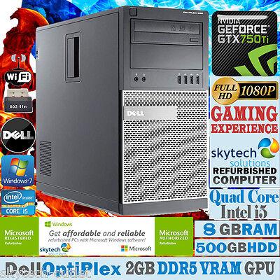 ULTRA VELOCE DELL Pc da gioco QUAD CORE I5 8GB 500GB WIN 7 Economico Fisso GTX