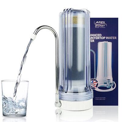 APEX MR-1030 3 Stage KDF Carbon GAC pH Purifier Countertop Water Filter -