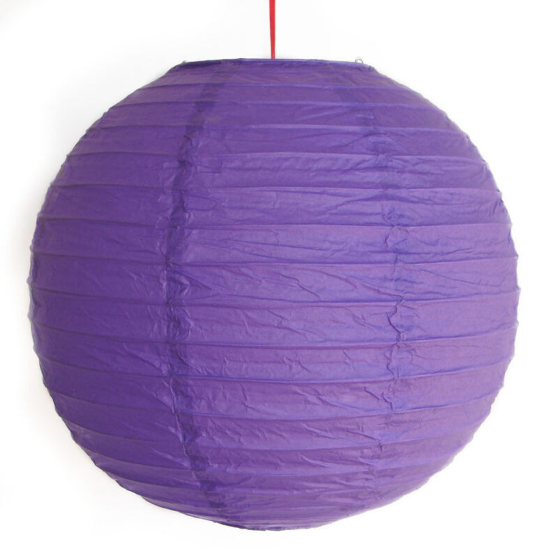 "2 of 12"" Chinese Purple Paper Lanterns"