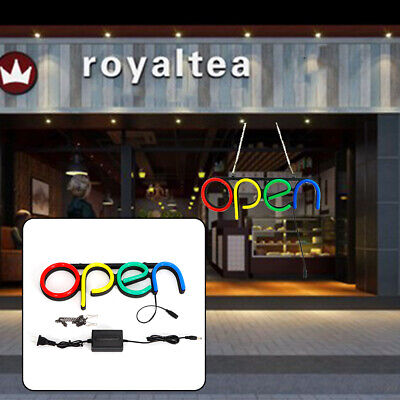 Open Sign Led Neon Colorful Sign Light Pvc Board Bar Window Outside Wall Decor