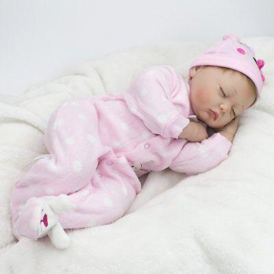 "22"" Reborn Newborn Babies Dolls Vinyl Silicone Baby Girl Doll+Clothes Handmade"