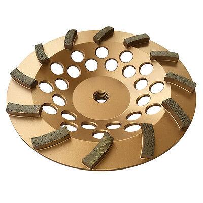 7 Concrete Grinding Cup Wheels 12 Diamond Abrasive Seg 58-11 Arbor