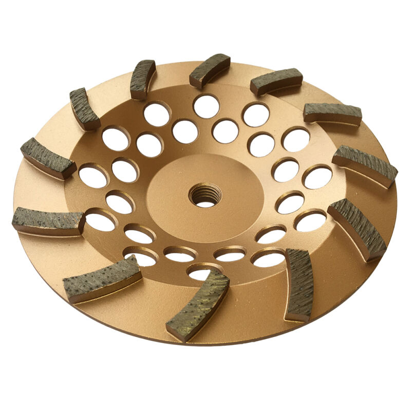 "7"" Concrete Grinding Cup Wheels 12 Diamond Abrasive Seg 5/8""-11 Arbor"