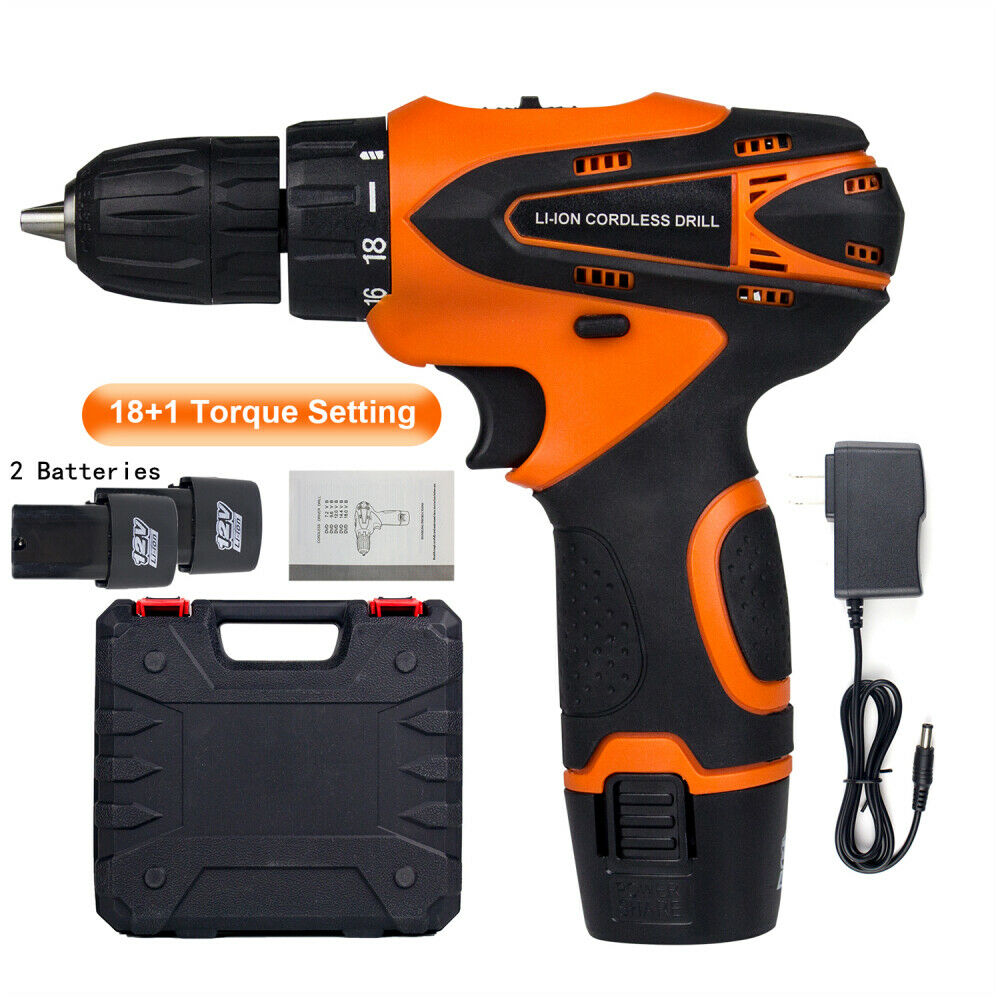 12V Mini Power Tool Set Rechargeable Cordless Electric Screwdriver Drill Kit