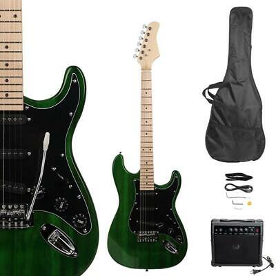 New Beginner Green Electric Guitar Kit with Amp & Accessorie