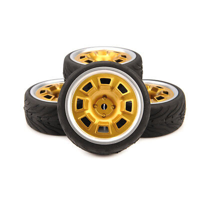 4pcs 1/10 on road Tires and hex 12mm Wheels rims For RC 1:10 Racing Car Rubber  for sale  Shipping to Ireland
